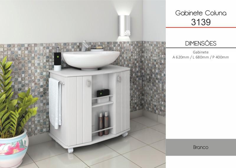 Souzalar -> Armario Banheiro Encaixe Coluna Pia